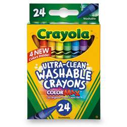 Crayola® Ultra-Clean Washable® Crayons - Set of 24 Standard-Size Crayons