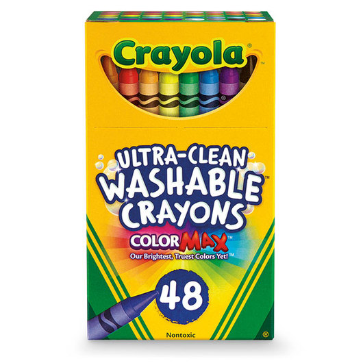 Crayola® Ultra-Clean Washable® Crayons - Set of 48 Standard-Size Crayons