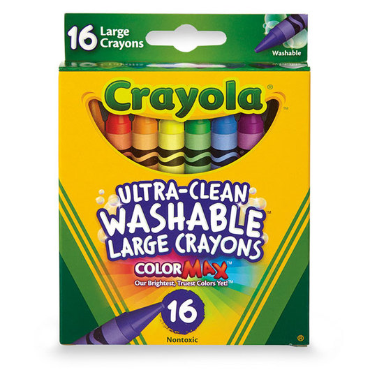 Crayola® Ultra-Clean Washable® Crayons - Set of 16 Large Crayons