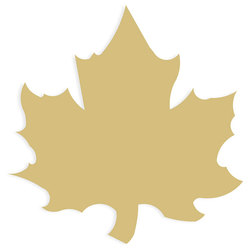 Wood Cut-Out Maple Leaf