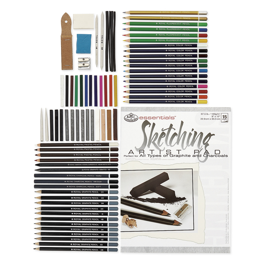 Royal Brush® Clearview Large Sketching and Drawing Kit