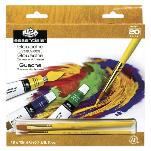 Royal Brush® Gouache - Set of 18 - 0.40 oz. (12 ml)