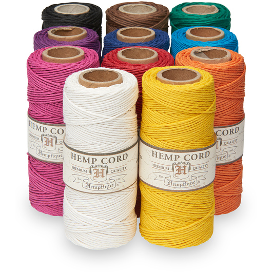 Hemptique® Hemp Cord Spools - Set of 11 Solid Colors