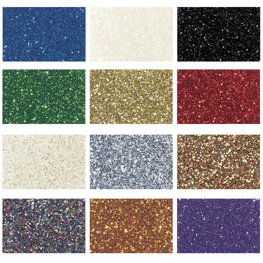 Glitter - Set of 12 - 16-oz. Jars