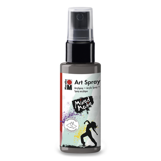 Marabu Art Spray 1.69-oz. (50 ml) Bottle - Gray