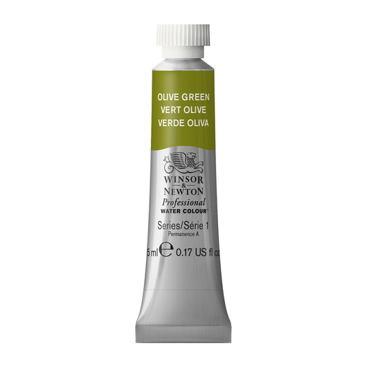 Winsor & Newton™ Professional Watercolor - 0.17-oz. (5 ml) Tube - Olive Green