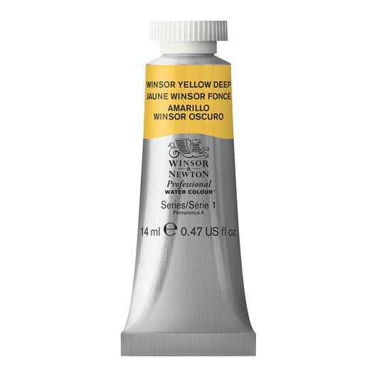Winsor & Newton™ Professional Watercolor - 0.47-oz. (14 ml) Tube - Winsor Yellow Deep