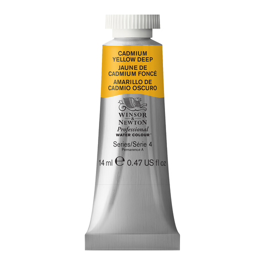 Winsor & Newton™ Professional Watercolor - 0.47-oz. (14 ml) Tube - Cadmium Yellow Deep