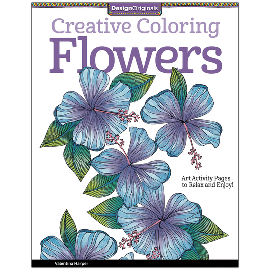Adult Coloring Book - Creative Coloring Flowers