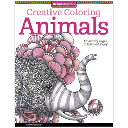 Adult Coloring Book - Animals