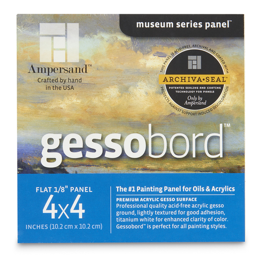 Museum Series Gessobord™ - Flat 1/8 in. Profile - 4 in. x 4 in. - 4 Pack