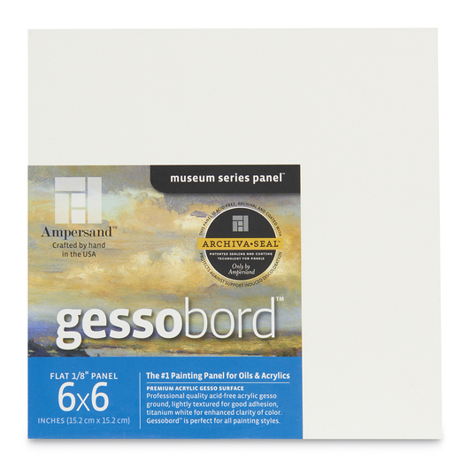 Museum Series Gessobord™ - Flat 1/8 in. Profile - 6 in. x 6 in. - 4 Pack