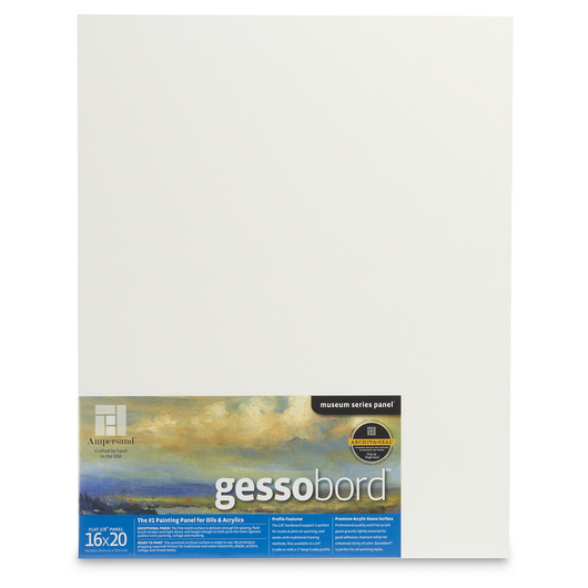 Museum Series Gessobord™ - Flat 1/8 in. Profile - 16 in. x 20 in.