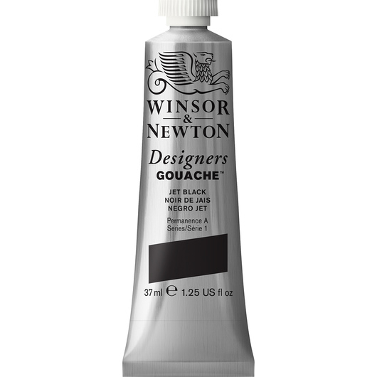 Winsor & Newton™ Designers Gouache™ - 1.25-oz. (37 ml) Tube - Jet Black