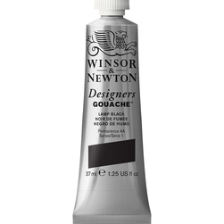 Winsor & Newton™ Designers Gouache™ - 1.25-oz. (37 ml) Tube - Lamp Black