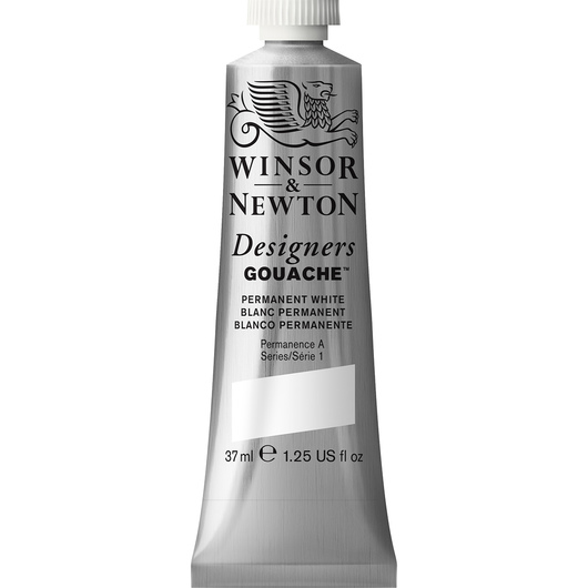 Winsor & Newton™ Designers Gouache™ - 1.25-oz. (37 ml) Tube - Permanent White