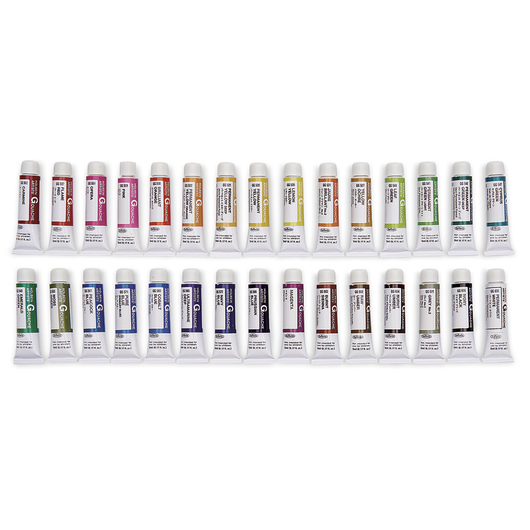 Holbein Artists' Gouache - Set of 30 - 0.17-oz. (5 ml) Tubes