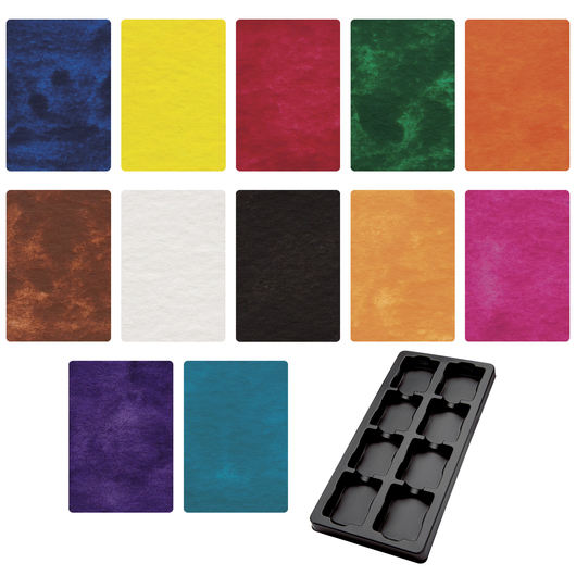Jack Richeson® Semi-Moist Tempera Cakes and Tray - 12 Colors