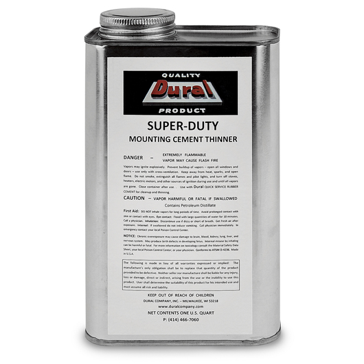 Dural Super-Duty Mounting Cement Thinner - Quart