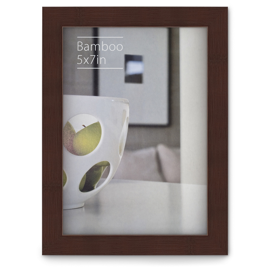 NielsenBainbridge™ EcoCare™ Ready Made Frame - 5 in. x 7 in. - Contemporary Bamboo Mocha
