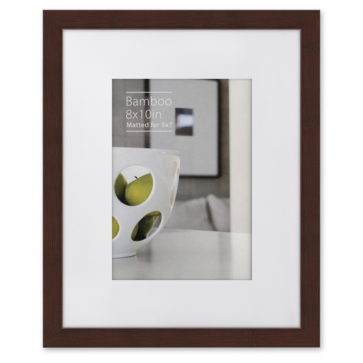 NielsenBainbridge™ EcoCare™ Ready Made Frame - 8 in. x 10 in. - Contemporary Bamboo Mocha