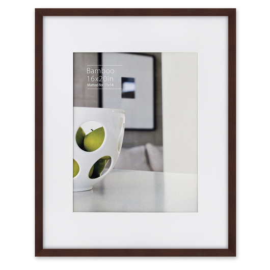 NielsenBainbridge™ EcoCare™ Ready Made Frame - 16 in. x 20 in. - Contemporary Bamboo Mocha