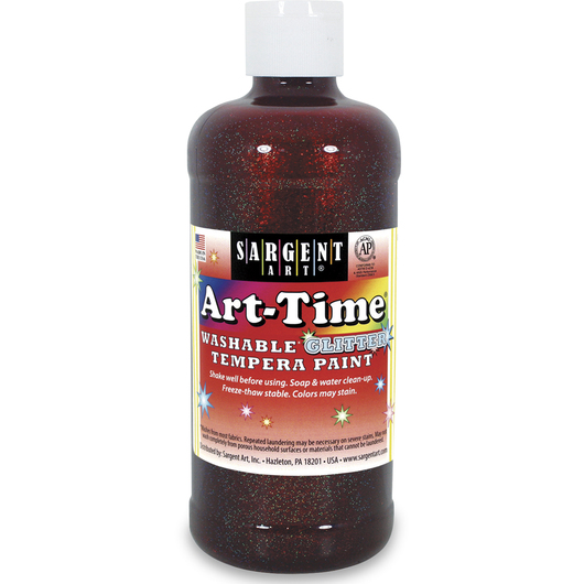 Sargent Art® Art-Time® Washable Glitter Paint - Pint - Red