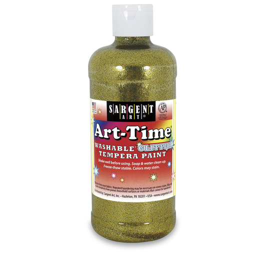 Sargent Art® Art-Time® Washable Glitter Paint - Pint - Gold