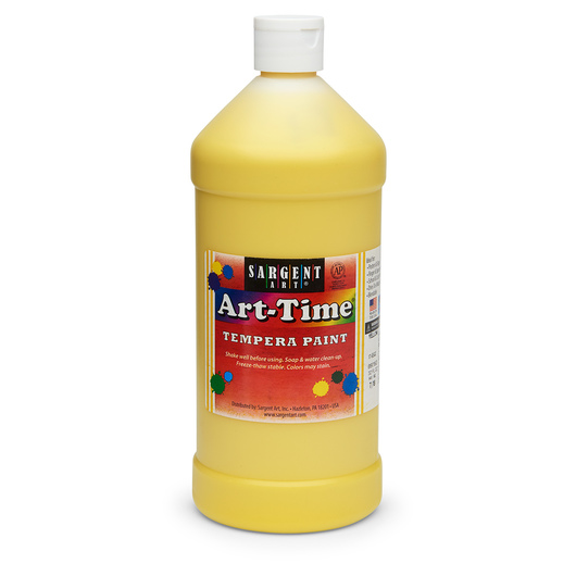 Sargent Art® Art-Time® Tempera Original Paint - Quart - Yellow