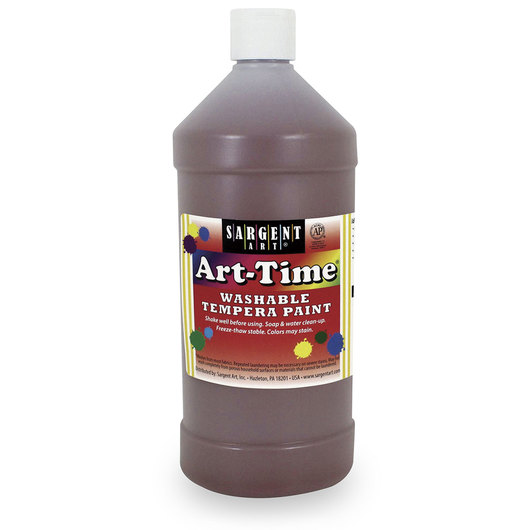Sargent Art® Washable Art-Time® Tempera Paint - Quart - Brown