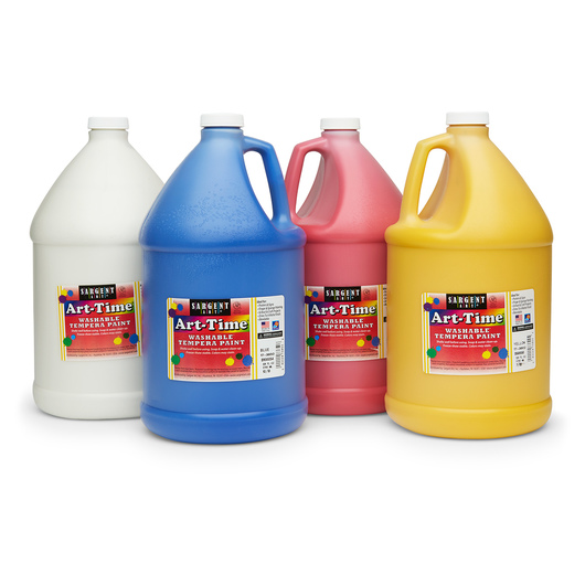 Sargent Art® Washable Art-Time® Tempera Paint - Set of 4 Gallons