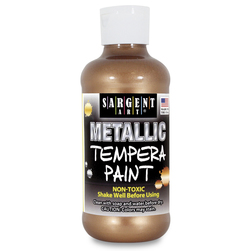 Sargent Art® Art-Time® Metallic Tempera Paint - 8-oz. Bottle - Bronze