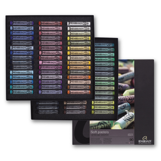 Rembrandt® Soft Pastels - Landscape Professional Set of 90 Full Sticks