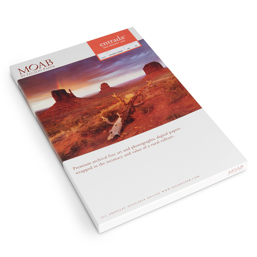 MOAB™ Entrada Rag Paper - 300 gsm - 11 in. x 17 in. - Pkg. of 25 Sheets
