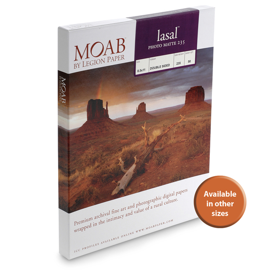 MOAB™ Lasal Photo Matte Paper - 235 gsm - 5 in. x 7 in. - Pkg. of 50 Sheets