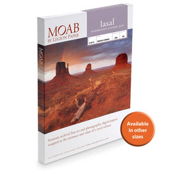 MOAB™ Lasal Exhibition Luster Paper - 300 gsm - 11 in. x 17 in. - Pkg. of 50 Sheets