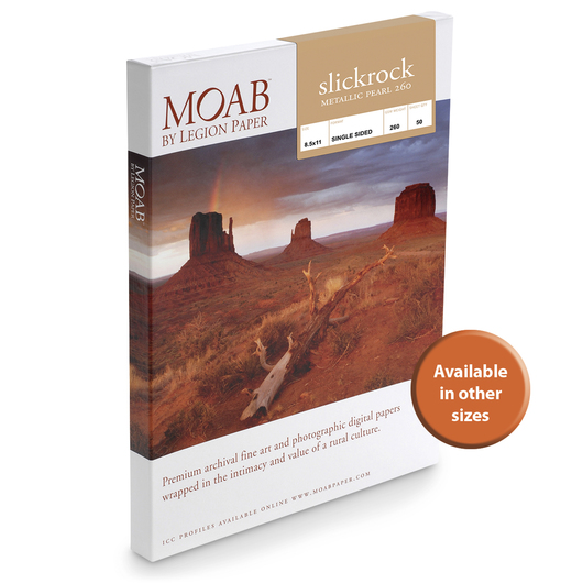 MOAB™ Slickrock Metallic Pearl 260 Paper - 260 gsm  - 8-1/2 in. x 11 in. - Pkg. of 25
