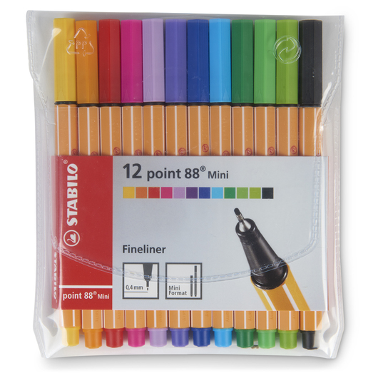 STABILO® Point 88 Pen Set - Mini Set of 12