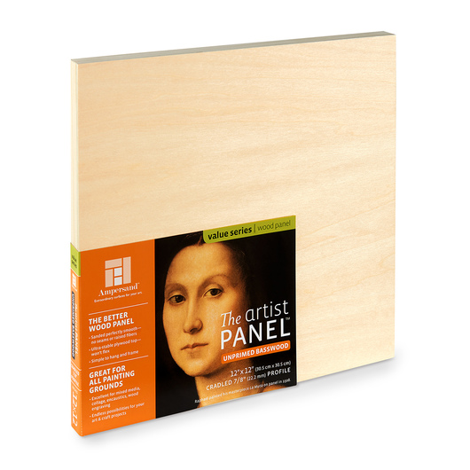 Value Series The Artist Panel™ Unprimed Basswood Panel - 12 in. x 12 in.