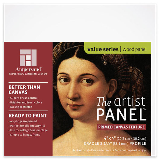 Value Series The Artist Panel™ Canvas Texture Panel - 4 in. x 4 in. x 1-1/2 in.