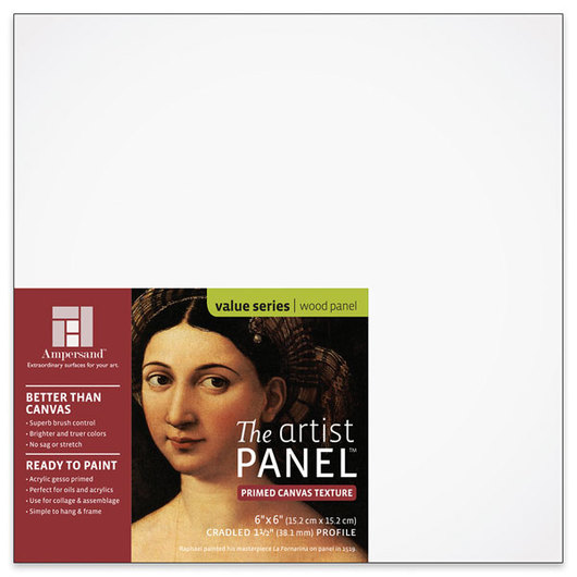 Value Series The Artist Panel™ Canvas Texture Panel - 6 in. x 6 in. x 1-1/2 in.