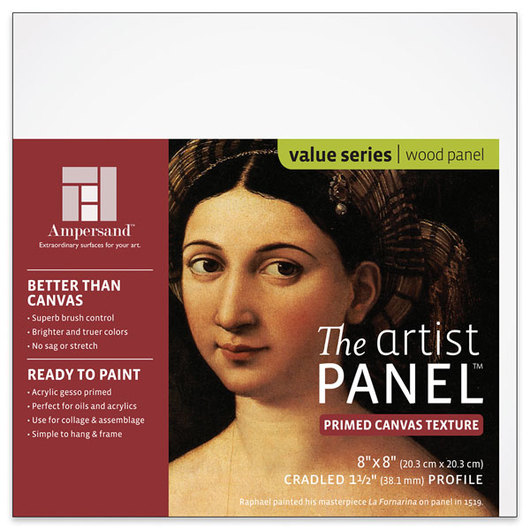Value Series The Artist Panel™ Canvas Texture Panel - 8 in. x 8 in. x 1-1/2 in.