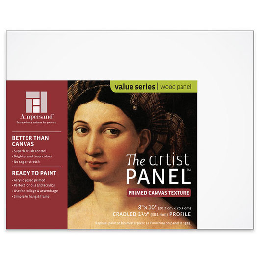 Value Series The Artist Panel™ Canvas Texture Panel - 8 in. x 10 in. x 1-1/2 in.