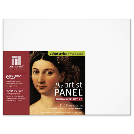 Value Series The Artist Panel™ Canvas Texture Panel - 9 in. x 12 in. x 1-1/2 in.