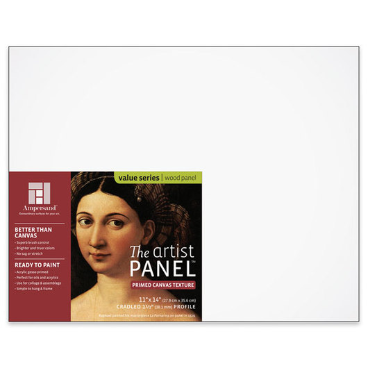 Value Series The Artist Panel™ Canvas Texture Panel - 11 in. x 14 in. x 1-1/2 in.