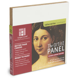 Value Series The Artist Panel™ Canvas Texture Panel - 4 in. x 4 in. x 3/8 in.
