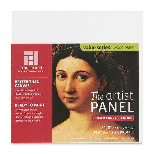 Value Series The Artist Panel™ Canvas Texture Panel - 8 in. x 8 in. x 3/8 in.