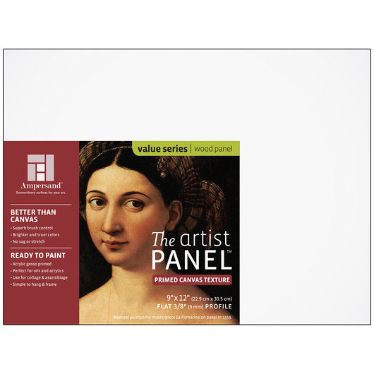 Value Series The Artist Panel™ Canvas Texture Panel - 12 in. x 12 in. x 3/8 in.