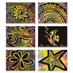 Pacon® Now You See It! Art Cards - Pkg. of 52 Color Splash