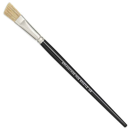 Enkaustikos® Angled Hog Bristle Brushes - 8-1/2 in. L - Size 1/2 in.